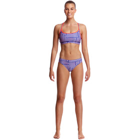 Funkita Sports Top - Bañadores Mujer - azul/blanco